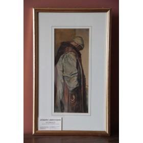 Западно-Европейская живопись Антикварная акварель Понтий Пилат