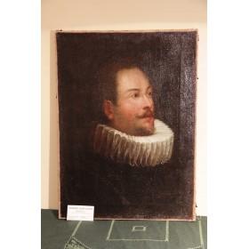 Антикварный портрет вельможи XVII век
