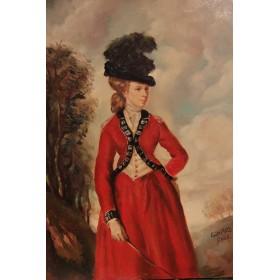 Старинный портрет Леди Уорсли художника Эдварда Роуза