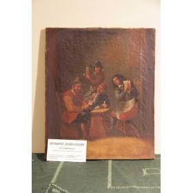 Старинная картина Сцена в таверне