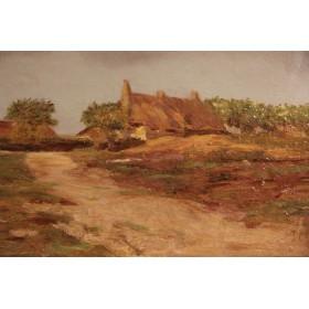 Антикварная английская картина, старинная живопись Джеймса Чарльза