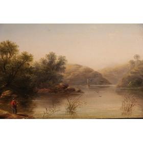 Старинная картина художника Джоржа Уолтерса