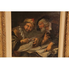 "Старинная картина 18 века ""Strong word"", Голландская школа"