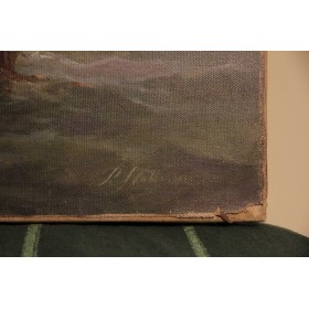 Антикварная картина Морской пейзаж художник Ralph R. Stubbs