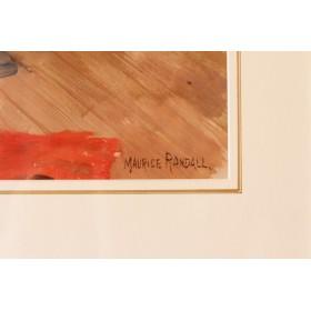 Антикварная картина художник Маурис Рэндэл Maurice Randall