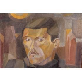 Антикварная картина портрет мужской