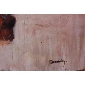 Старинный натюрморт Антикварная живопись Бернарда Менинского Bernard Meninsky