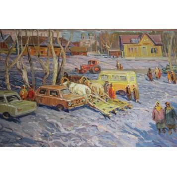 Филонов Советская школа живописи У магазина
