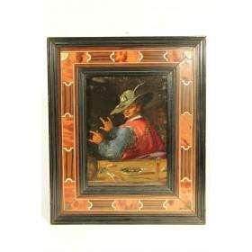 3755 Антикварная картина Продавец устриц школа художника Filippo Napoletano
