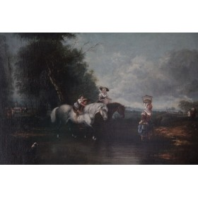 3758 Старинный голландский пейзаж начала 19 века