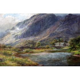 045 Старинная английская живопись купить пейзаж Лакина Тернера