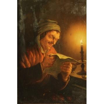 Антикварная бельгийская живопись Schendek Petrus Van Петрус Ван Шендель