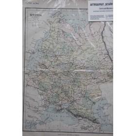 Старинная карта Российской империи