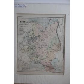 Антикварная старинная карта России и Кавказа