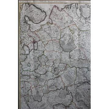 003 Старинная карта Московия Делиль 1709 г.