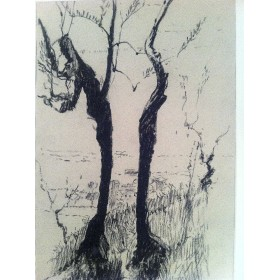 """Старинная картина """"Рисунки Италии"""", Пастель Барри Бриско (Barry Briscoe)"""