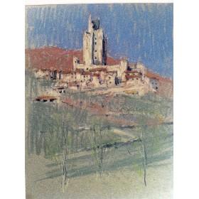 Пастель художника Барри Бриско (Barry Briscoe) из серии Виды Италии