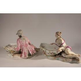 1730 Антикварные фарфоровые  вазы-статуэтки Мейсен