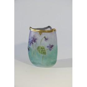 Антикварная стеклянная вазочка в стиле Модерн,Франция, начало XX века