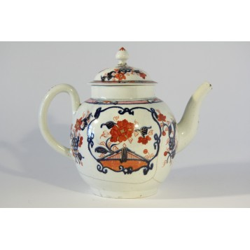Старинный фарфоровый чайничек Ливерпуль