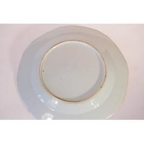 Старинная китайская декоративная фарфоровая тарелка 19 века
