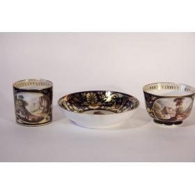 Антикварный чайный кофейный набор Дерби Ампир нач 19 века