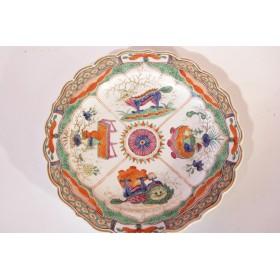 Антикварная фарфоровая тарелка Worcester Англия 18 век