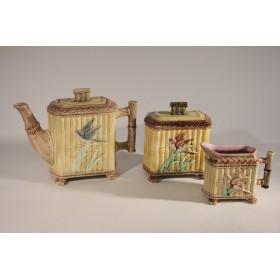 "Антикварный чайный сервиз ""Бамбук""Англия, Минтон?, XIX век"