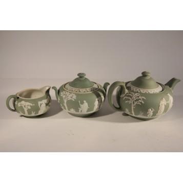 Антикварный чайный сервиз Веджвуд Оливковый