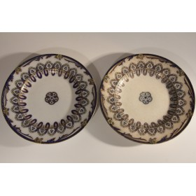 1872 Пара антикварных тарелок Азов