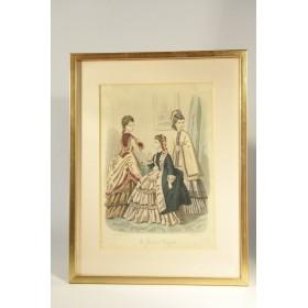 Купить старинные гравюры на тему Мода, антикварная гравюра в подарок