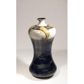 1860 Антикварная ваза Англия, Роял Долтон Синяя волна