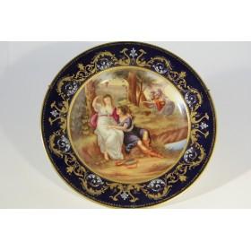 Антикварная тарелка Венский фарфор