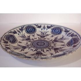 Старинная декоративная фарфоровая тарелка Дельфт 18 век