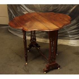 Старинный Викторианский столик с откидывающимися боковинами