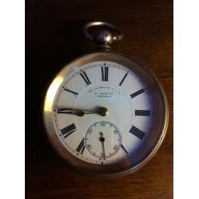 Антикварные карманные серебряные часы
