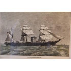Набор английских антикварных гравюр - Корабли