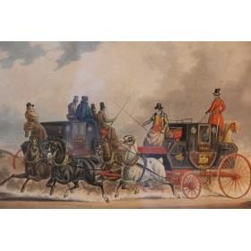 Набор старинных английских гравюр по теме - Кареты