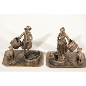 Английская миниатюра  сельская жизнь, английское серебро