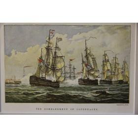 Старинные гравюры на тему-морские баталии