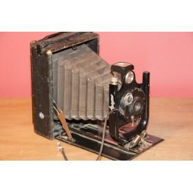 Антикварный старинный фотоаппарат переносной с фотопластиной