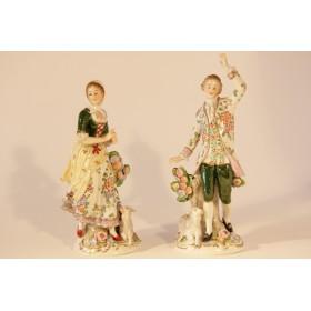 Антикварные фарфоровые статуэтки Германия Ситзендорф