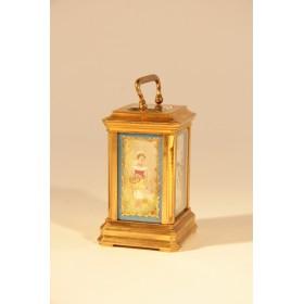 Старинные каретные часы миниатюрные фирмы Hands