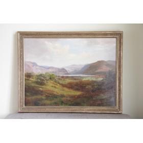 Антикварная английская картина Уильям Лакин Тернер William Lakin Turner