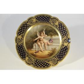 Антикварная тарелка в стиле Императорского венского завода