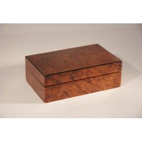 Антикварная шкатулка для сигар и сигарет Англия Амбойна