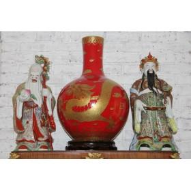 Антикварная фарфоровая ваза, Китай