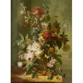 Старинный натюрморт с цветами Ян Ван Хейсум Голландия