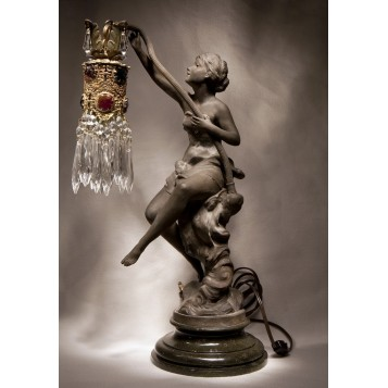 Старинная лампа Нимфа стиль Модерн купить в Москве