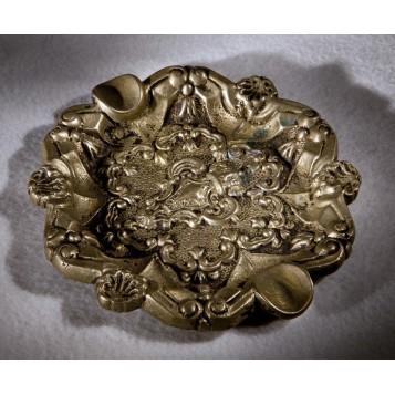 Антикварная пепельница Звезда Давида со скрытой масонской символикой